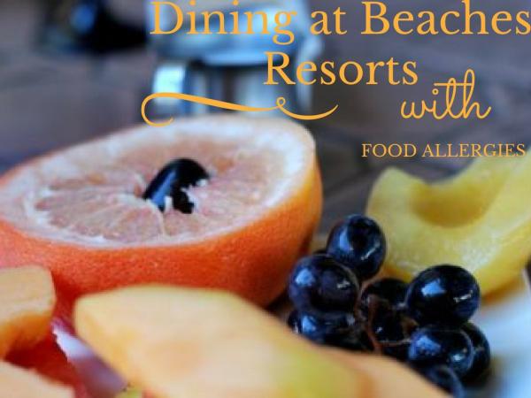 beaches resorts food allergies