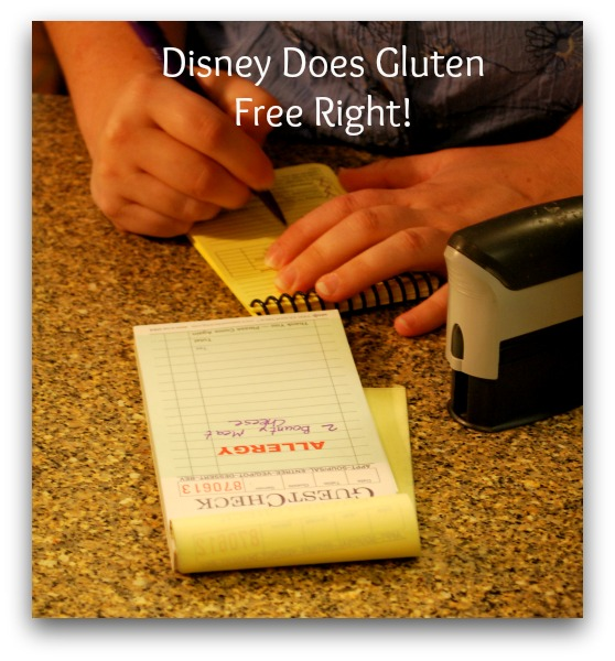 gluten free options at disneyworld