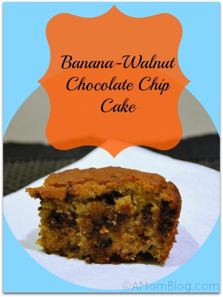 banana walnut chocolate chip cake