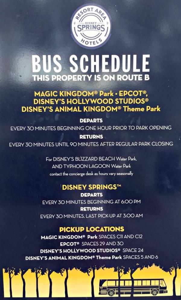 wyndham bus to disney schedule