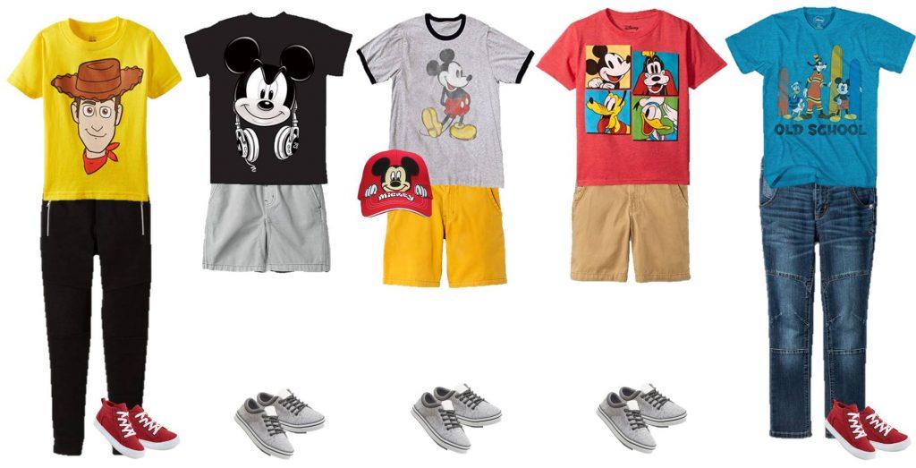 mix and match Disney Boy's Fashions