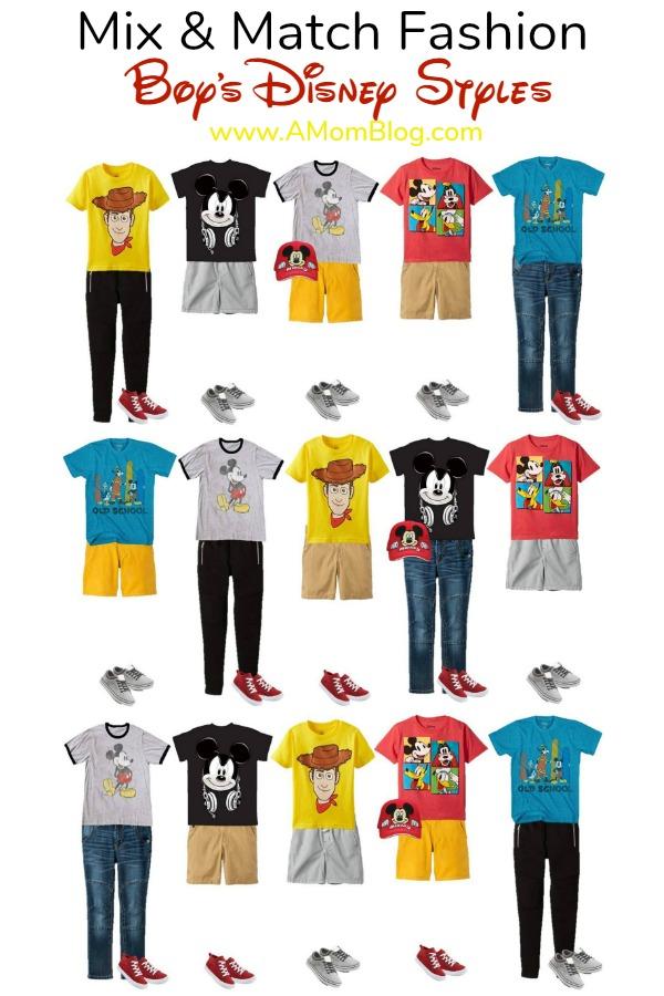 fashion: mix and match disney boys styles