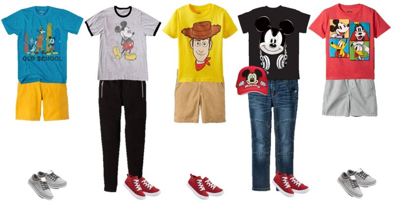 mix and match disney fashions for boys