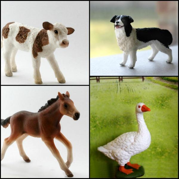 farm animals creative play